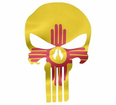 "Skull Decal State Of New Mexico Cut-out 2"",4"",6"",8"""