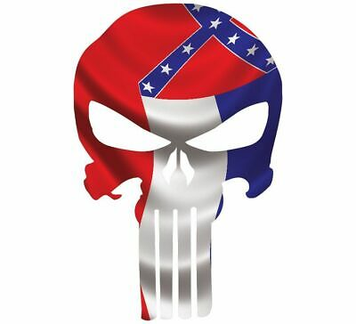 "Skull Decal State Of Mississippi Cut-out 2"",4"",6"",8"""