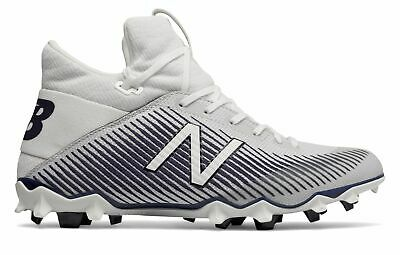 New Balance Men's FreezeLX 2.0 Lacrosse Cleat Shoes White with Blue