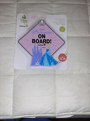 Disney Princess Cinderella Disney Baby Safety 1st Baby on Board Car Window Sign