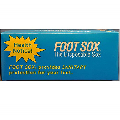 Foot Sox Original Sanitary Disposable Try on Socks Mens Black