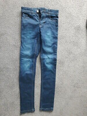 Boys NEXT skinny blue jeans 11 years 146cm EX condition