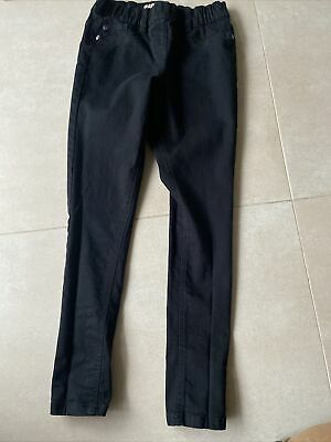 Next Black Jeggings Pull On Jeans Stretch Elasticated Waist Age 10 Years Skinny