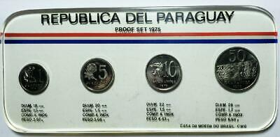 Paraguay 1975 4-Piece Proof Set with Case, Just 1,000 Sets Made
