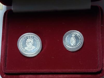 Paraguay 1976 2-Piece Proof Set with Case & COA, Just 1,000 Sets Made