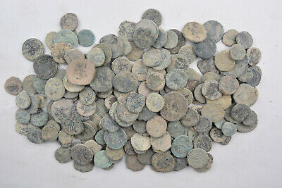 Lot 193 Roman & Byzantine bronze coins FOR CLEANING 100-800 AD
