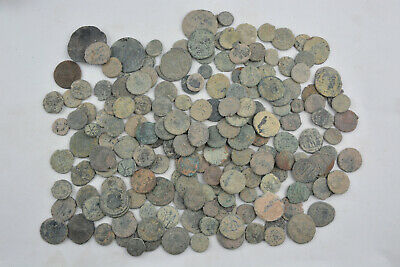 Lot 192 Roman & Byzantine bronze coins FOR CLEANING 100-800 AD