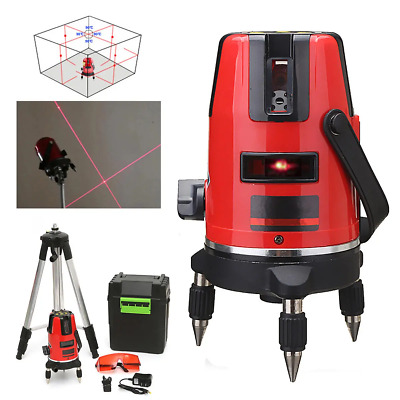 5 Lines 6 Points Professional Waterproof Laser Level Red Automatic Level 360° Ro