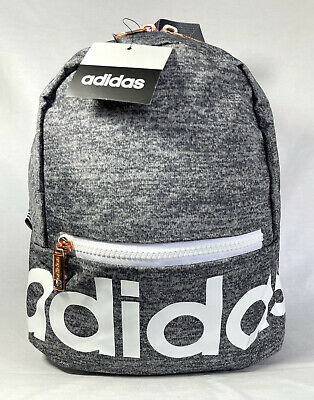 ADIDAS LINEAR MINI Backpack Gray/Jersey Onix and White W/ Rose ...