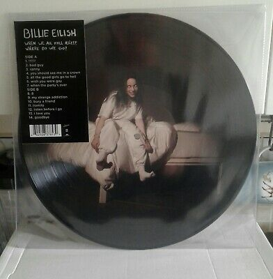 billie eilish when we all fall asleep vinyl picture disc