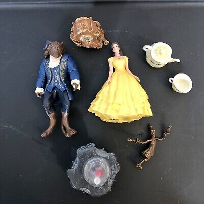 Disney PVC Figures ~ Beauty & the Beast Figurines With Enchanted Rose and More