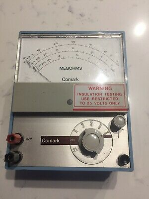 Vintage - Comark Electronics - Insulation Meter Type 1905 With Leather Case
