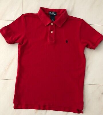Boys Genuine RALPH LAUREN Red Polo Shirt - Age 7