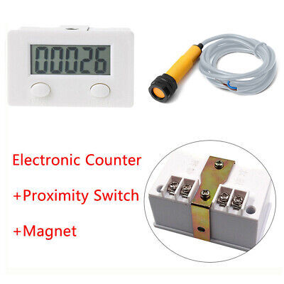 5 Digit Counter Digital Electronic Magnetic Puncher Inductive Proximity Switch