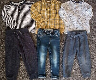 Baby boys 2 tops, shirt, jeans & 2 joggers age 2-3 years excellent condition
