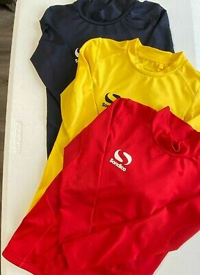 Kids Sondico Skins Tops and shortsTights in Navy Yellow Red Size age 7-8 years