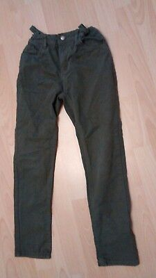 Boys khaki green jeans.  Age 10-11 years.