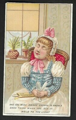 """1880's Phila.,PA - Wrigley Mfg. Co. """"Soap Wrappers"""" Premiums Hold to Light Card"""