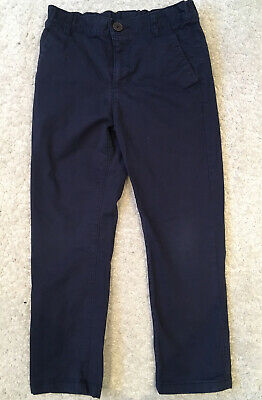 Boys Smart Navy Chino Trousers Age 6-7