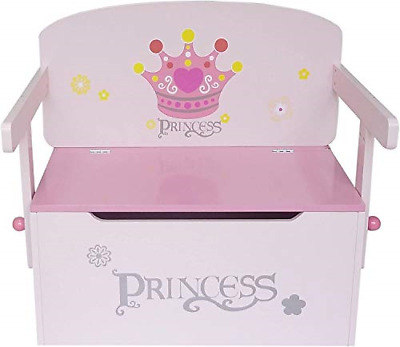 Kiddi Style 3in1 Princess Convertible Toy Box + Bench & Table + Chair PRNC-1CTB