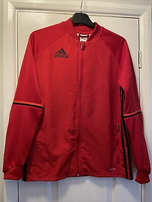 Adidas Climacool Red Boys Zip Up Jacket Top Age 13-14 - Worn Once
