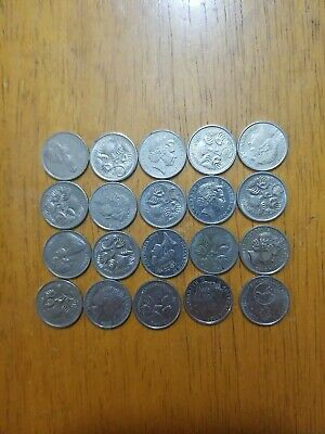 Old Australia Coin Lot - 20 HIGH GRADE 5 CENT COINS