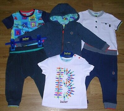 100% TED BAKER Boys Spring Bundle Joggers Tops Jacket T-Shirts Outfits Age 9-12m