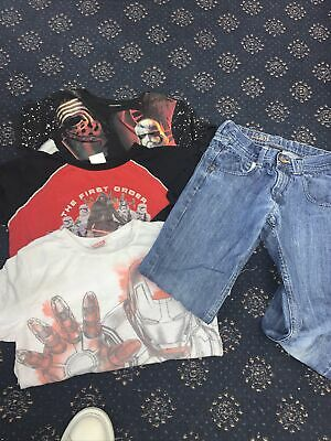 Boys Bundle Next Smart Jeans 3 T-shirt One Long Sleeve Star Wars  9-10 Years