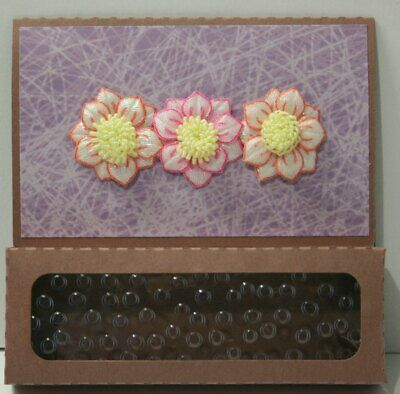 Handmade gift box Card  Thank you  any occasion window 1