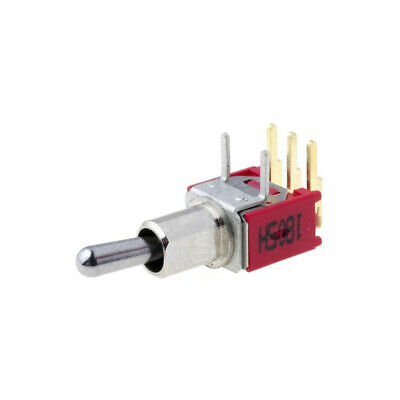 SKS06LP Switch: toggle Pos: 2 SPDT ON-ON 3A/28VDC Leads: for PCB,angled SALECOM