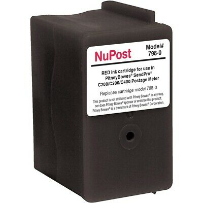 NuPost Remanufactured Ink Cartridge Alternative for Pitney Bowes Black NPT7980