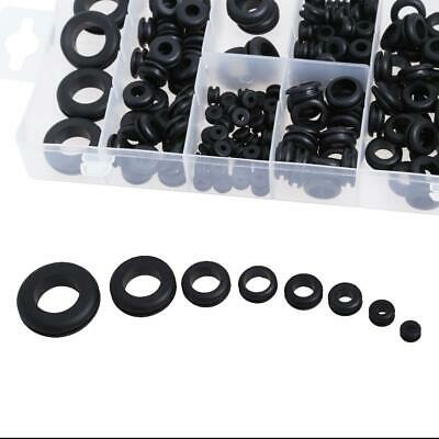 180pcs Rubber Grommet 8 Popular Sizes Grommet Gasket for Protects Wire ✿