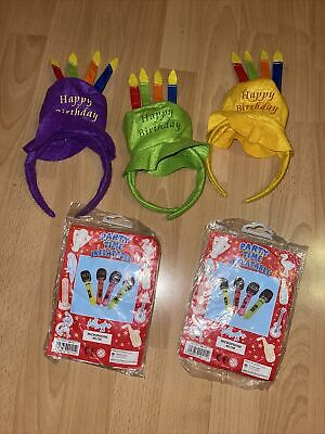 Birthday HeadBand Inflatable Plastic Microphone 40cms Party Favour Kids Toy Gift