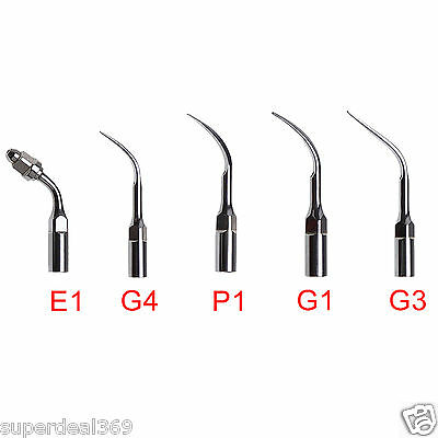 5pcs Dental Ultrasonic Perio/Endo Scaler Tips Scaling For EMS GPE