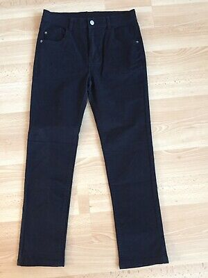 Girls Black Jeans, George, Age 11-12, Excellent Condition