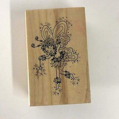 Oval Fairy /& Dove Fairy New Mounted Rubber Stamp