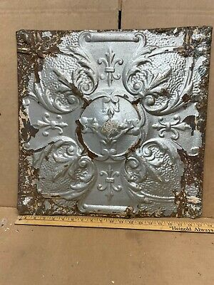 "1 pc Lot 19"" by 19"" Antique Ceiling Tin Metal Reclaimed Salvage Art Craft"