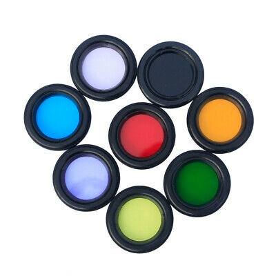 """8 X Telescope Eyepiece Lens Color Filters 1.25"""" Planet Moon Star Cluster Nebula"""