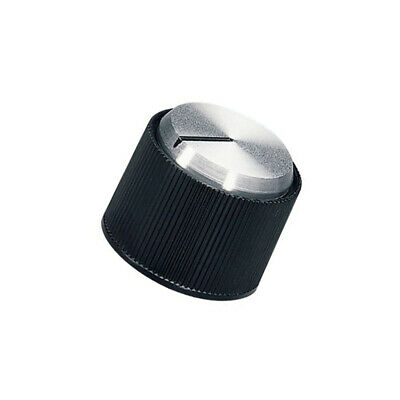A1318260 Knob with pointer aluminium,thermoplastic Shaft d: 6mm black OKW