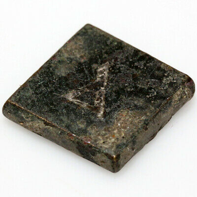 CIRCA 500-700 AD ANCIENT BYZANTINE BRONZE & SILVER SQUARE WEIGHT-4.67 grams