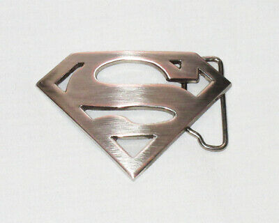 SUPERMAN SHIELD Belt Buckle Brushed Metal Silver Colour S Hope -NEW