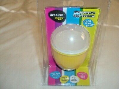 SALE MICROWAVE EGG COOKER IN YELLOW  SCRAMBLED/POACHED EGG's IN SECONDS BPA FREE