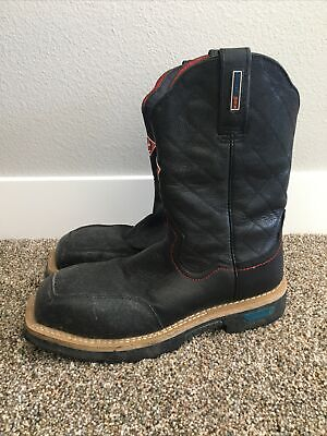 Cinch Work Boots Mens WRX Rubber Sole Distressed Black WXM121