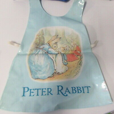 Peter Rabbit Children's  Plastic Apron    Painting Apron Tabbard