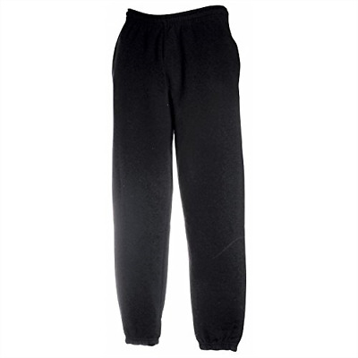 FRUIT OF THE LOOM Men's Jog Sweatpants Black L