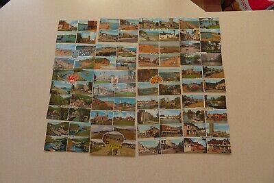 """20 ASSORTED MULTI VIEW Pre Owned Unused Not Posted 5 1/2 x 3 1/2"""" POSTCARD"""