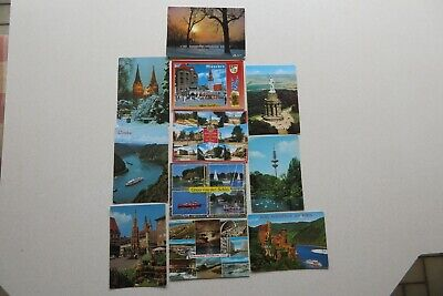 11 ASSORTED GERMANY Pre Owned USED STAMPED and NO STAMPED POSTCARDS.