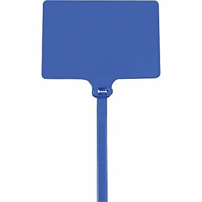 "Caja Shipping Identification Cable Ties 120# 9"" Blue 100/Case"