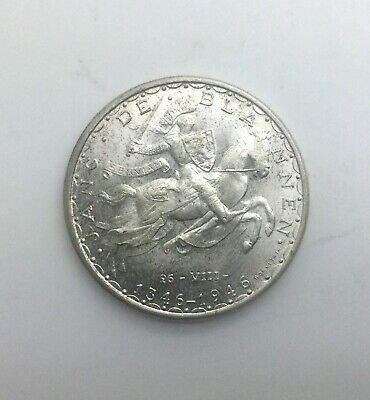 1946 Luxembourg 100 Francs  Silver John The Blind Nice Sharp BU World Crown