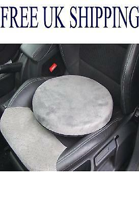 Car van mobility aid cushion 360 rotating swivel seat revolving pad memory foam